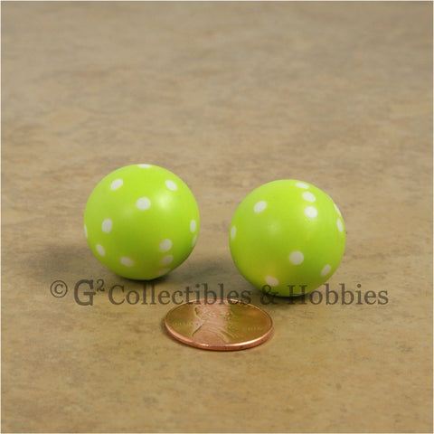 Round D6 Dice Set 2pc - Lime Green