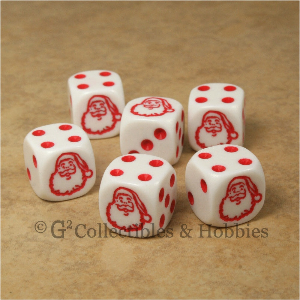 Santa Claus 6pc Dice Set