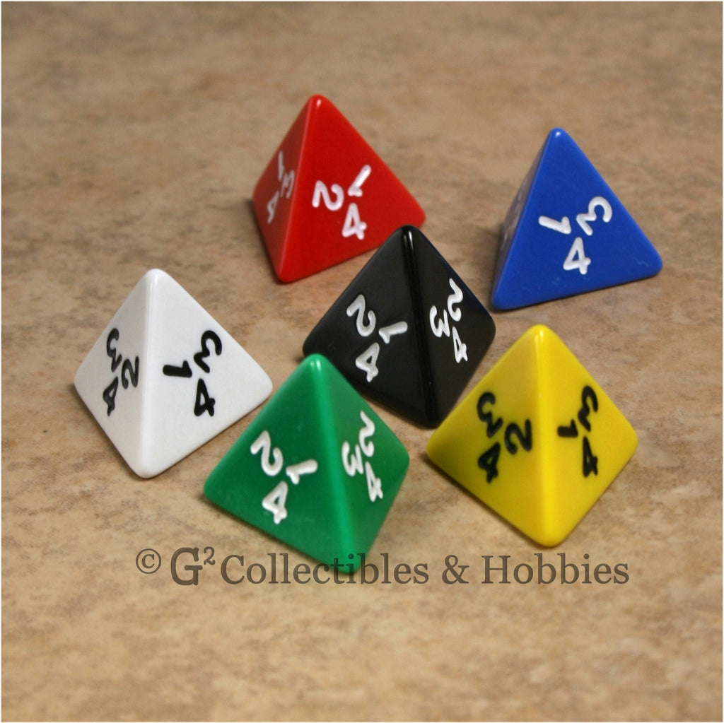 D4 RPG Dice Set : Opaque 6pc