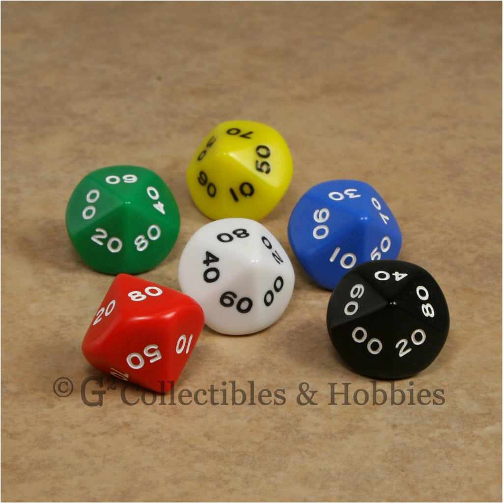 D10 DECADE RPG Dice Set : Opaque 6pc