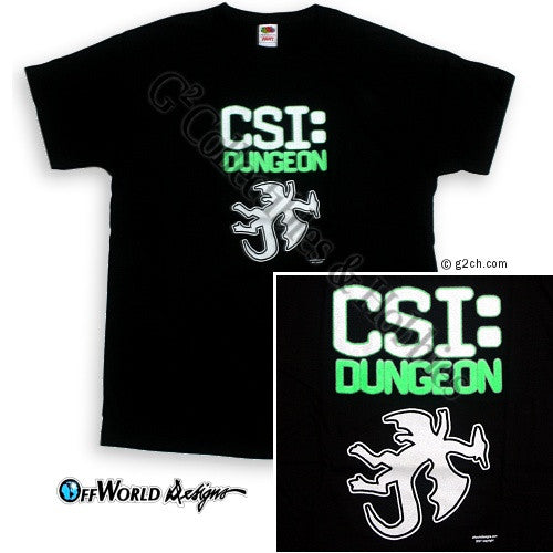 2XL CSI: Dungeon T-Shirt (glow in the dark)