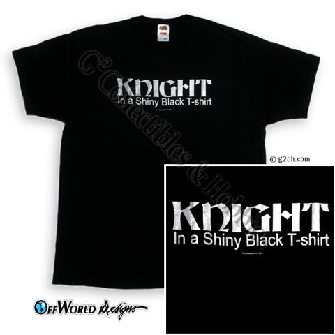 XL Knight in a Shiny Black T-Shirt