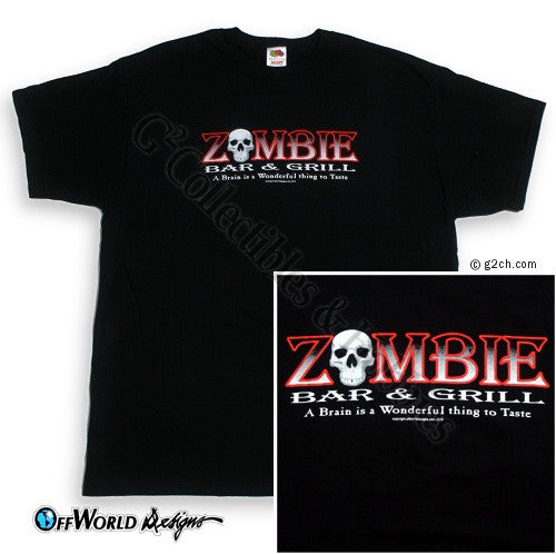 2XL Zombie Bar & Grill T-Shirt