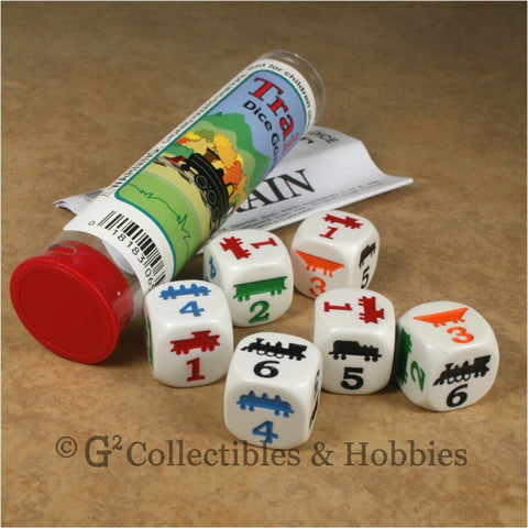 Train Dice Game Set