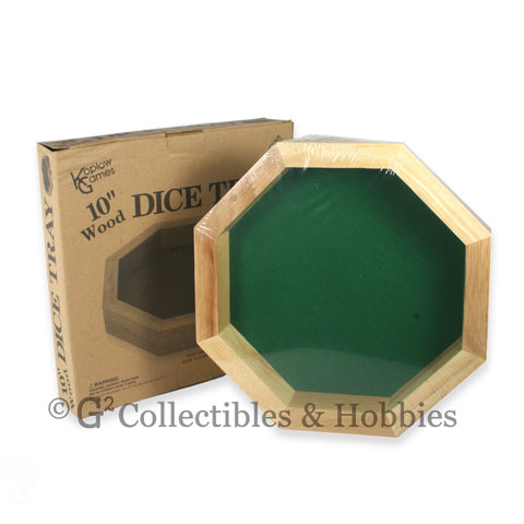 Ten Inch Octagonal Wood Dice Tray (with minor box damage)
