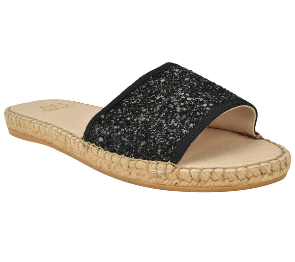 Candice Black Glitter Sandal - Shop comfortable sneaker, Sandals & high quality flats, wedges online!