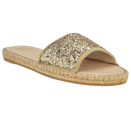 Candice Gold Glitter Sandal - Shop comfortable sneaker, Sandals & high quality flats, wedges online!