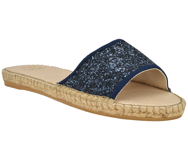 Candice Navy Glitter Sandal - Shop comfortable sneaker, Sandals & high quality flats, wedges online!