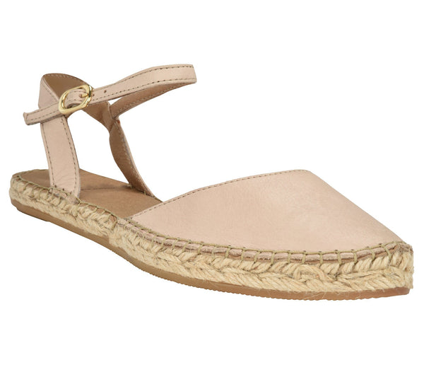Capri Beige leather Espadrille Flat - Shop comfortable sneaker, Sandals & high quality flats, wedges online!