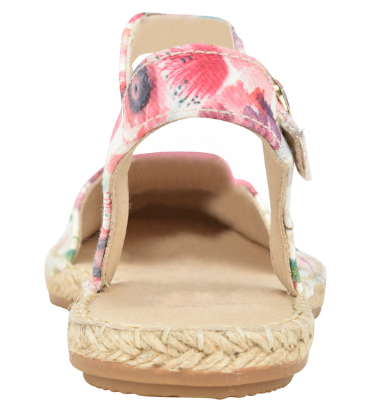 Capri Floral leather Espadrille Flat - Shop comfortable sneaker, Sandals & high quality flats, wedges online!