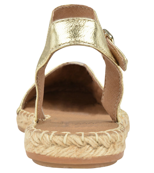 Capri Gold Flat - Shop comfortable sneaker, Sandals & high quality flats, wedges online!