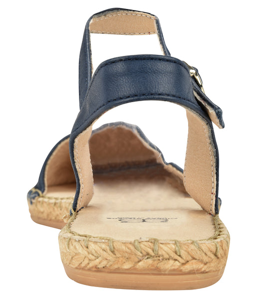 Capri Navy leather Espadrille Flat - Shop comfortable sneaker, Sandals & high quality flats, wedges online!