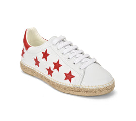 Terra Stars White/Red Graffiti Leather Espadrille Sneaker - Shop comfortable sneaker, Sandals & high quality flats, wedges online!