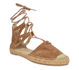 Mikaela cognac suede Flat - Shop comfortable sneaker, Sandals & high quality flats, wedges online!