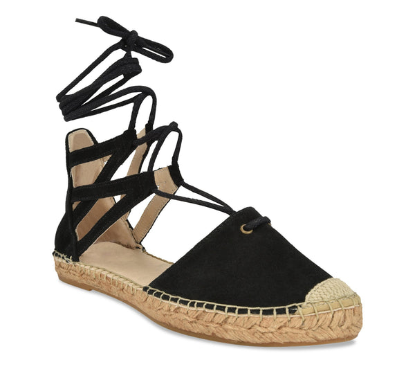 Mikaela Navy suede Flat Espadrille flat - Shop comfortable sneaker, Sandals & high quality flats, wedges online!