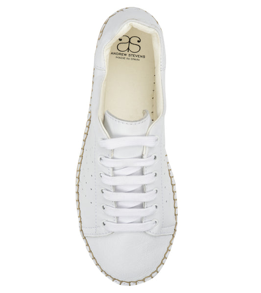 Terra White/white Leather Espadrille Sneaker - Shop comfortable sneaker, Sandals & high quality flats, wedges online!