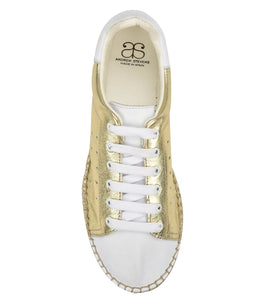 Terra Gold/white leather Espadrille Sneaker - Shop comfortable sneaker, Sandals & high quality flats, wedges online!