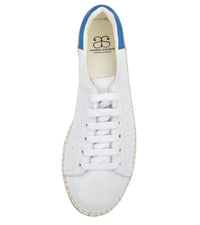 Terra White/Blue leather Espadrille Sneaker - Andrew Stevens Footwear