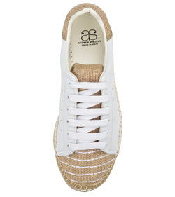 Terra white/Beige leather- Linen Espadrille Sneaker - Shop comfortable sneaker, Sandals & high quality flats, wedges online!
