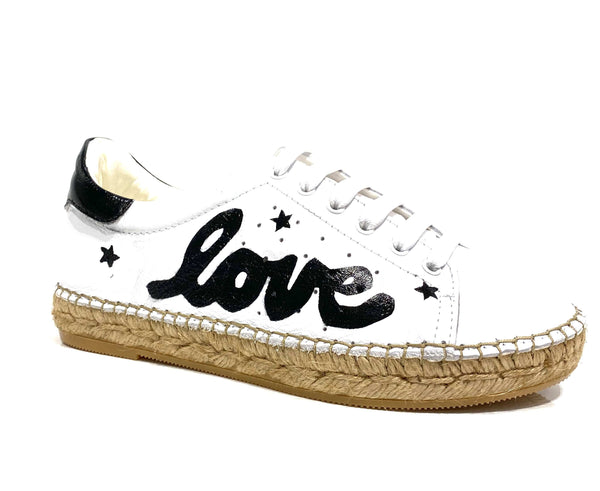 Terra Love Leather Espadrille Sneaker - Andrew Stevens Footwear