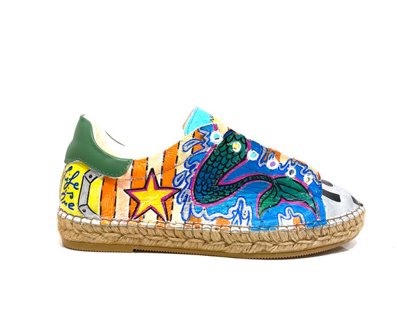 Terra Graffiti Espadrille Sneaker Size 38/36.5-7 - Shop comfortable sneaker, Sandals & high quality flats, wedges online!