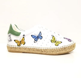 Terra Butterfly Graffiti Leather Espadrille Sneaker - Shop comfortable sneaker, Sandals & high quality flats, wedges online!
