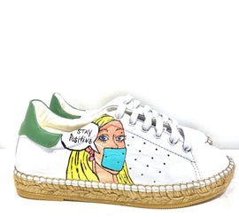 Terra Stay Positive Leather Espadrille Sneaker - Shop comfortable sneaker, Sandals & high quality flats, wedges online!