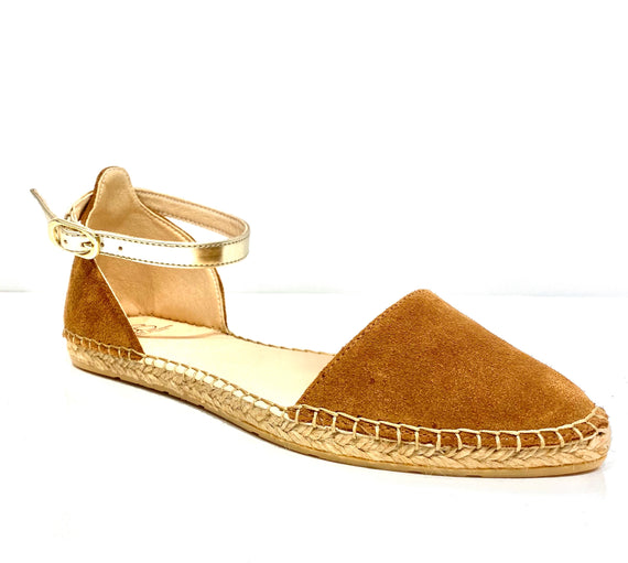 Naiya Cognac suede Flat - Shop comfortable sneaker, Sandals & high quality flats, wedges online!