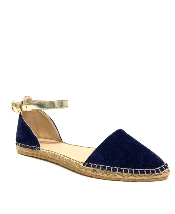 Naiya Navy Suede Espadrille Flat - Shop comfortable sneaker, Sandals & high quality flats, wedges online!