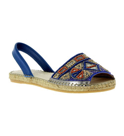 Jenna Blue Beading espadrille Flat sandal - Shop comfortable sneaker, Sandals & high quality flats, wedges online!