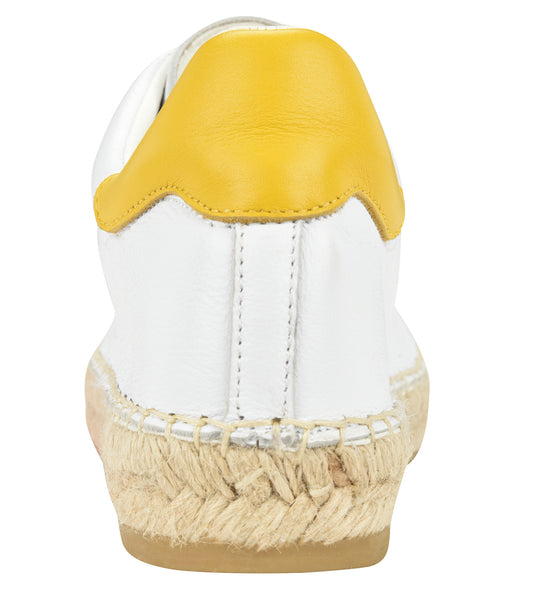 Terra Yellow/White leather Espadrille Sneaker - Andrew Stevens Footwear