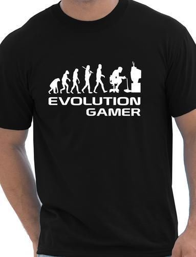 gaming t-shirts EVOLUTION OF A GAMER SHIRT