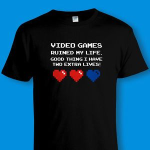 gaming t-shirts Games Ruined my Life Tee