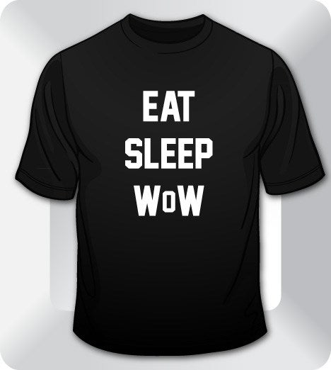 gaming t shirts eat sleep wow