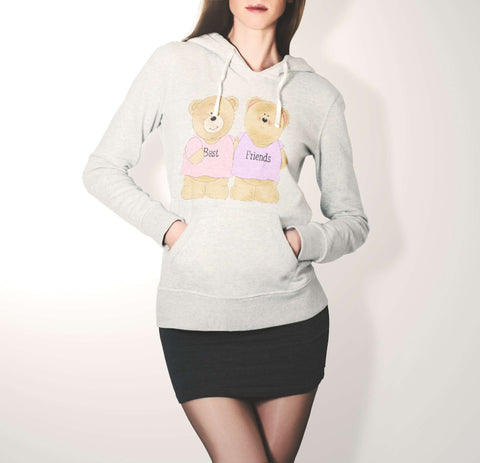 Cutiepie Teddy Bear - Best Friend Hoodie For Women