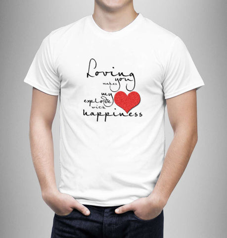 Loving You Makes My Heart - Love Tshirts - Men