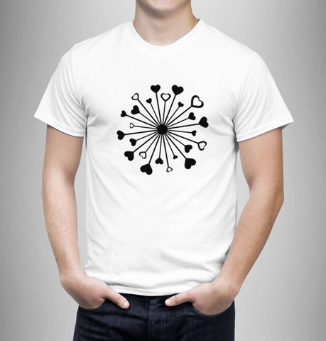 Love Hearts Circle - Love Tshirts - Men