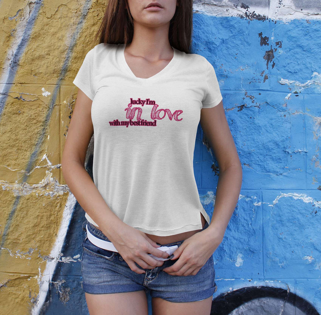 Lucky I'm In Love - Best Friend Tshirts For Women