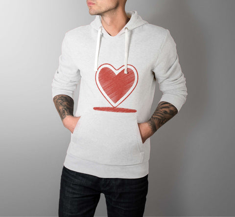 Red Heart - Love Hoodies - Men