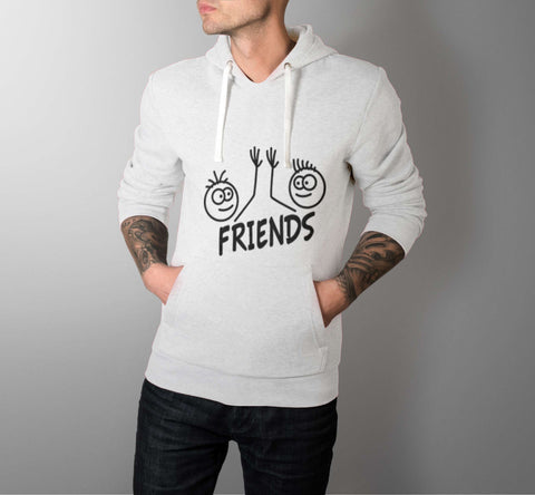 Happy Friends - Best Friend Men Hoodie