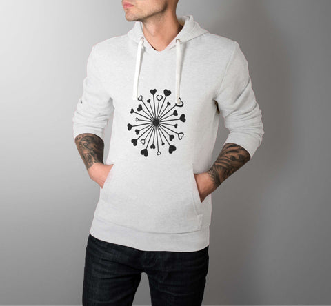 Love Hearts Circle - Love Hoodies - Men