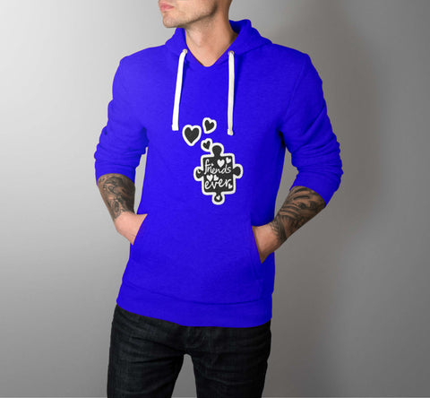 Friends Heart Ever - Love Hoodies - Men