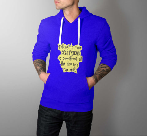Friendship Therapy - Best Friend Men Hoodie