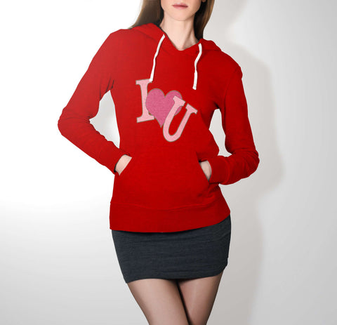 My Heart Loves You - Love Hoodie For Women