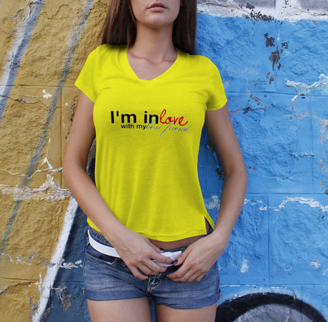 I Am In Love With My - Best Friend Tshirts For Women