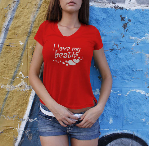I Love My Bestie - Best Friend Tshirts For Women