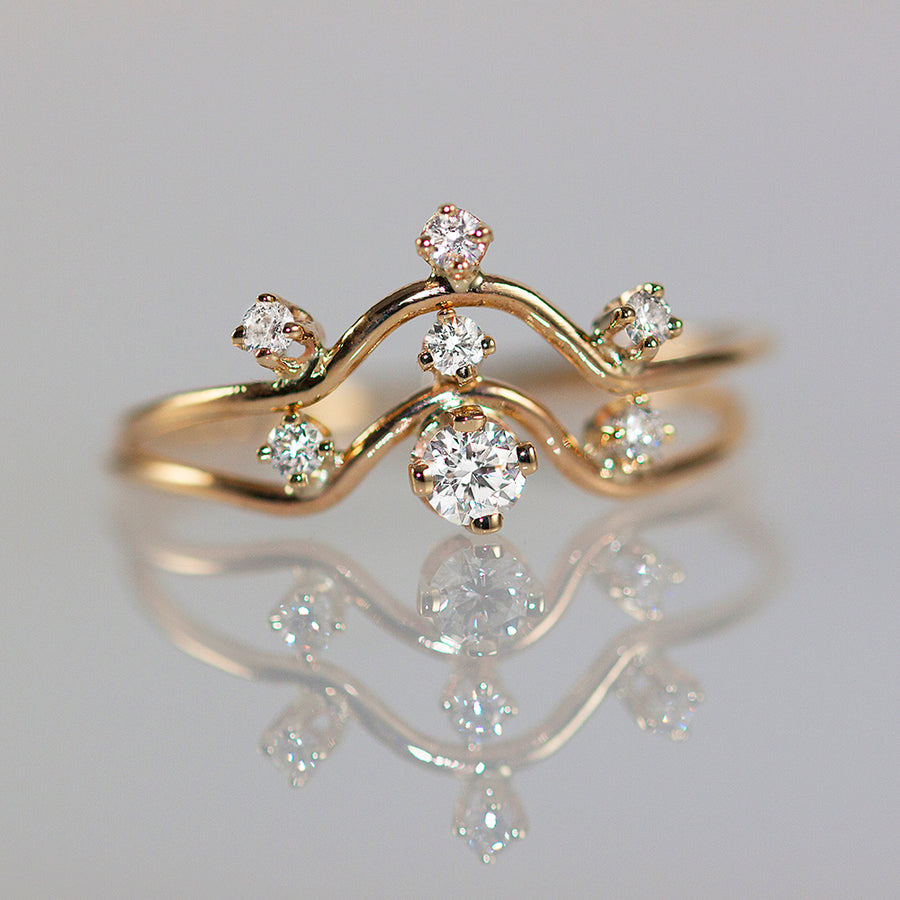 Nereid Diamond Ring in Solid Gold