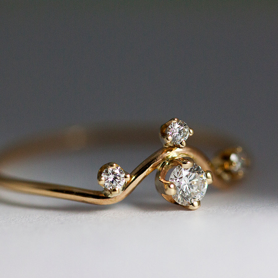 Andromeda Diamond Ring in Solid Gold