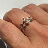 Andromeda Diamond Ring in Solid White Gold