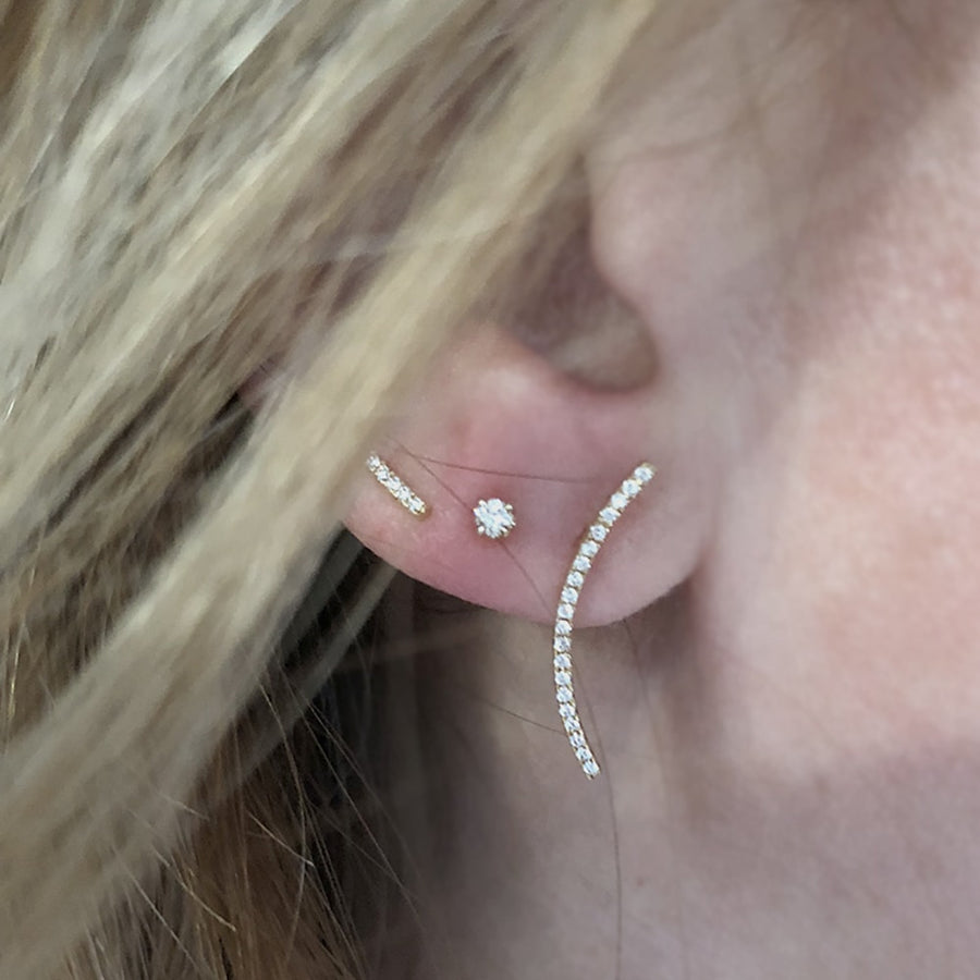 Small Diamond Dots Earrings